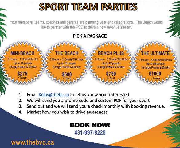 Beach Volleyball Rental for PSOs