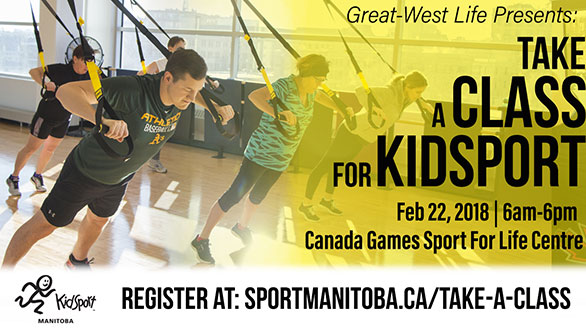 Great-West Life presents: Take a Class for KidSport on Thursday, February 22