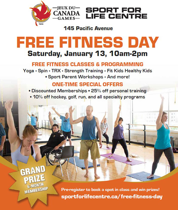Fitness Day Saturday, January 13!